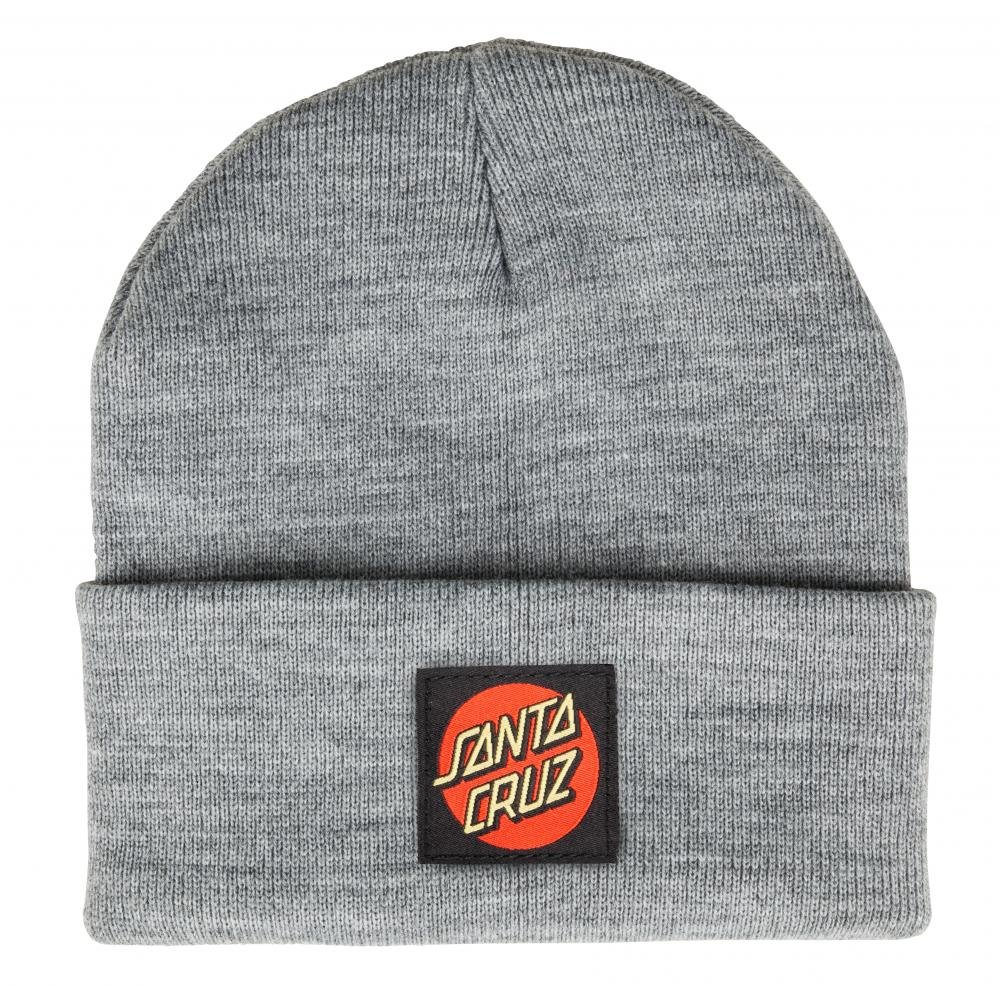 Santa Cruz - Beanie Classic Label Dot - Dark Heather - Pánský kulich