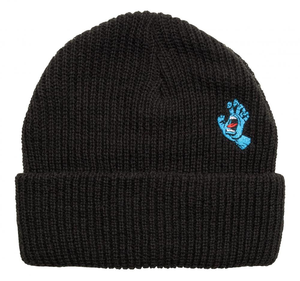 Santa Cruz - Beanie Screaming Mini Hand - Black - Pánský kulich