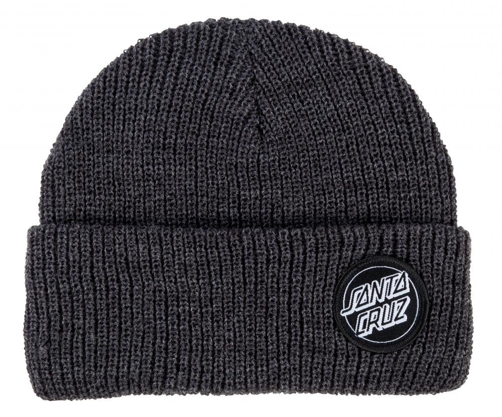 Santa Cruz - Beanie Outline Dot - Dark Heather - Pánský kulich