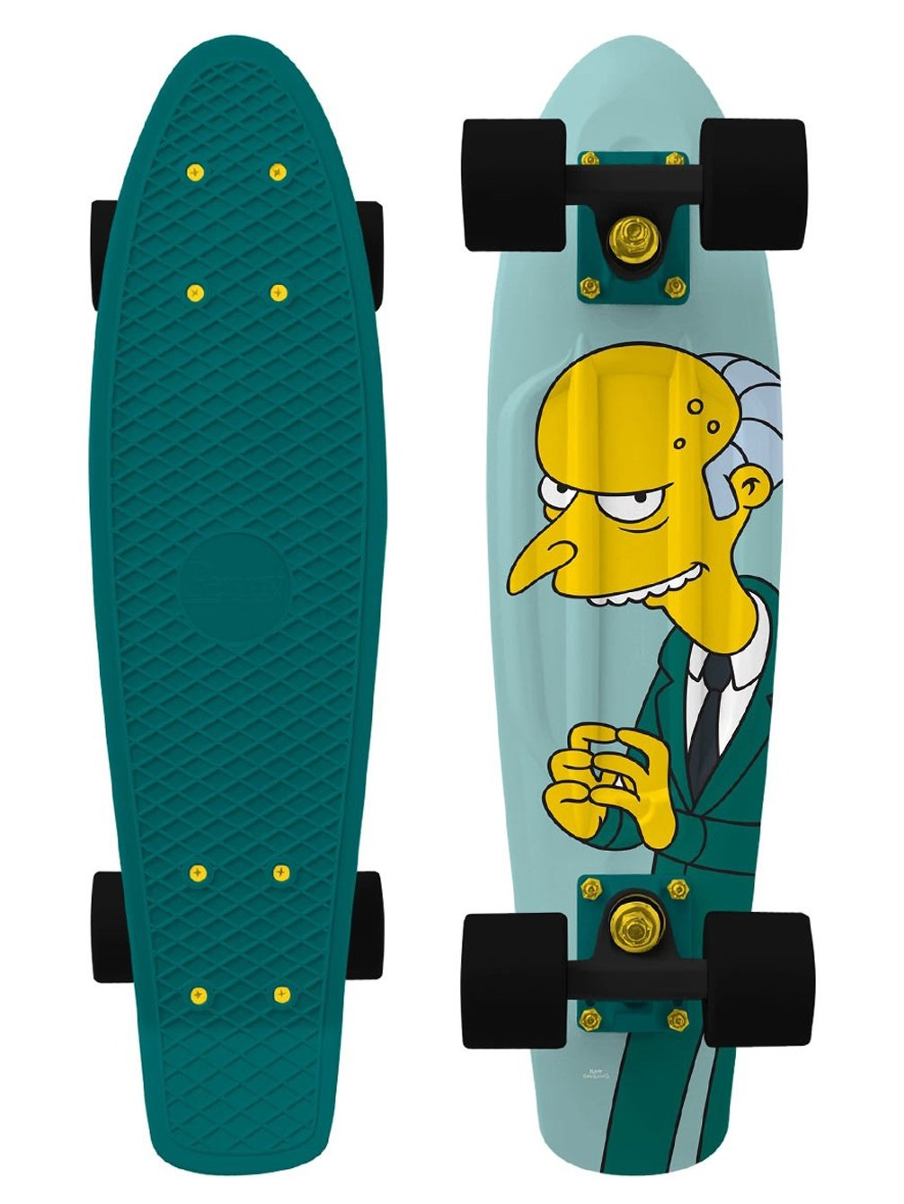 Penny - Simpsons Nickel 22 - Excellent - penny boards