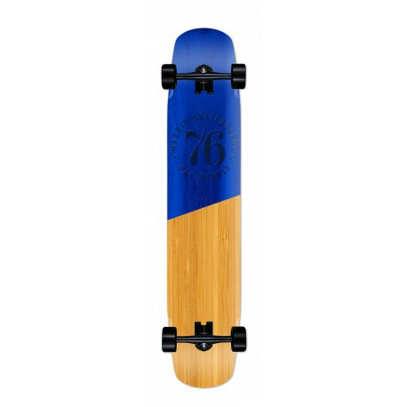 Madrid Flash Blue Foil Logo - longboard
