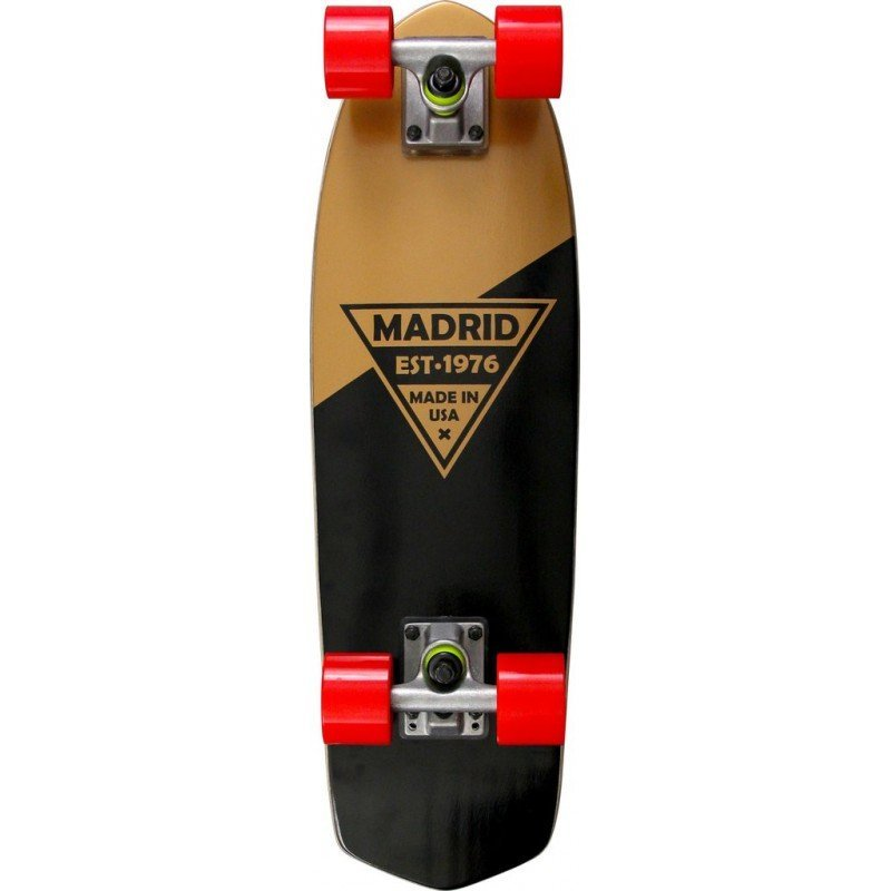 "Madrid Party 24"" Gold Metallic Logo - longboard"