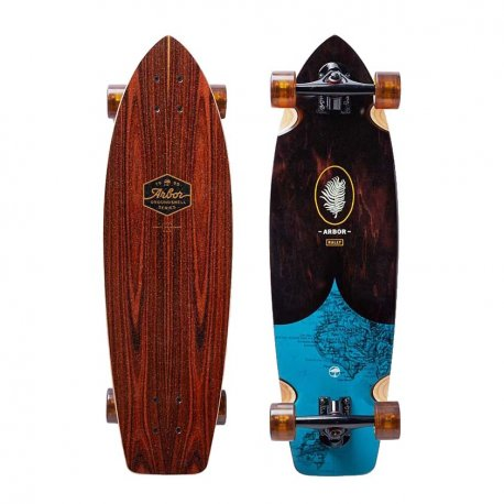 Arbor Rally Groundswell Collection 'Map' 30.5 - longboard