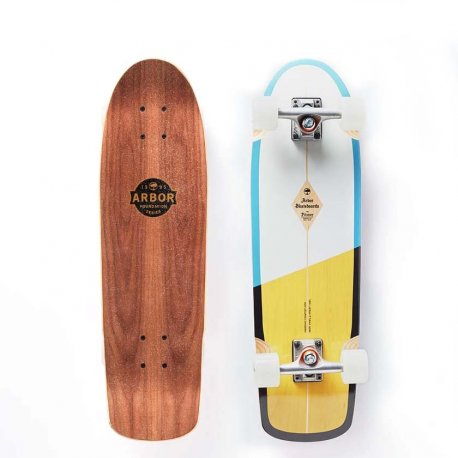 Arbor Pilsner Foundation Series White/Yellow 29 - longboard