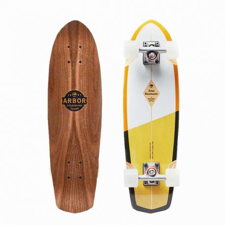 Arbor Pocket Rocket Foundation Series White/Yellow 27 - longboard