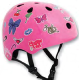 Pink Sticker Essentials Helmets