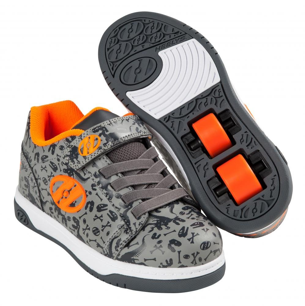 Heelys - X2 Dual Up Grey/Charcoal/Orange - koloboty