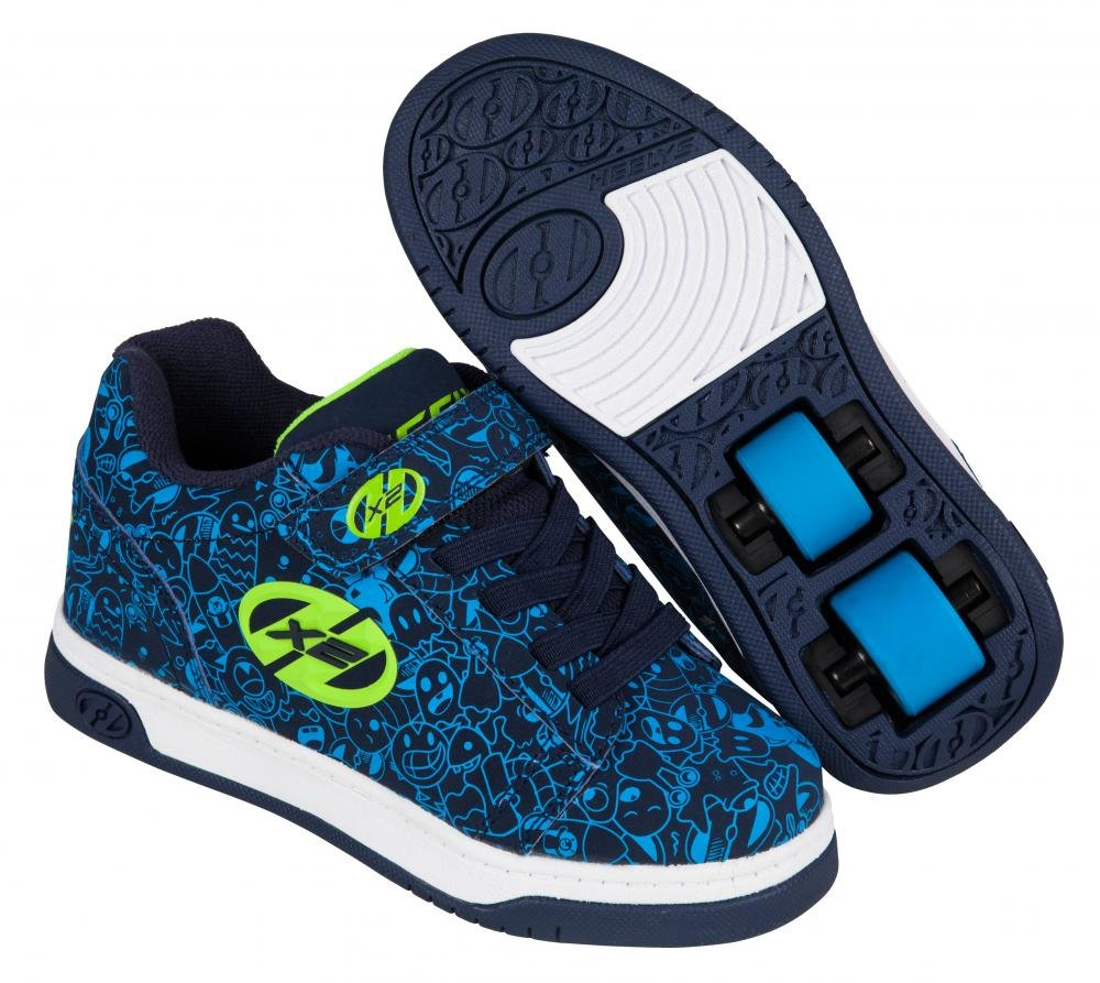 Heelys - X2 Dual Up Navy/Blue/Print - koloboty