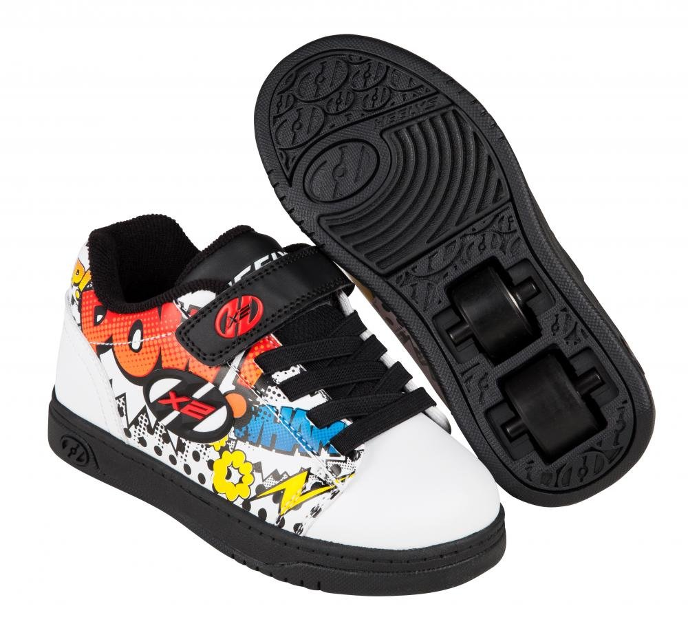 Heelys - X2 Dual Up White/Black/Multi Comic - koloboty