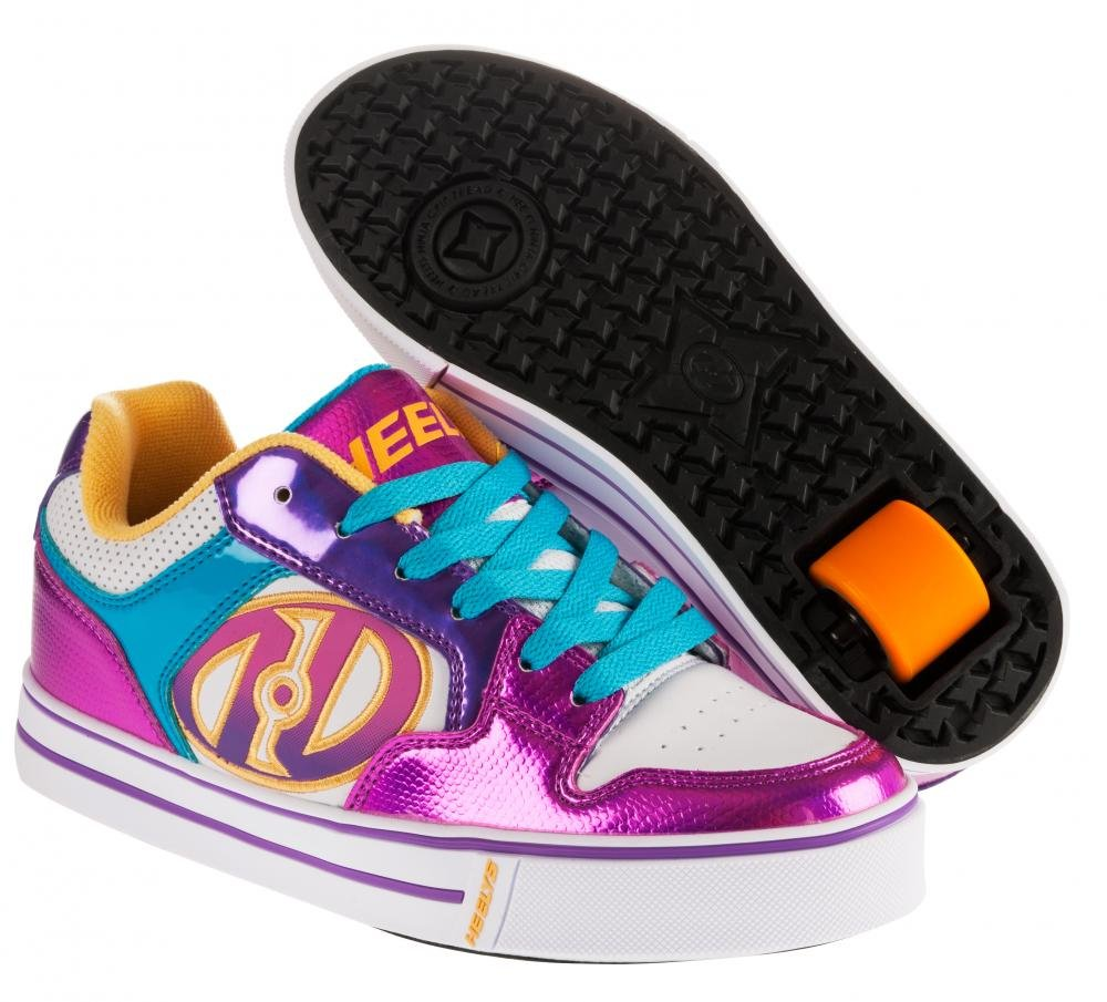 Heelys - Motion Plus White/Fuschia - koloboty