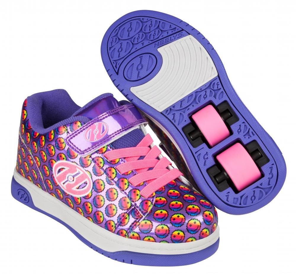 Heelys - X2 Dual Up Purple/Rainbow/Smile - koloboty