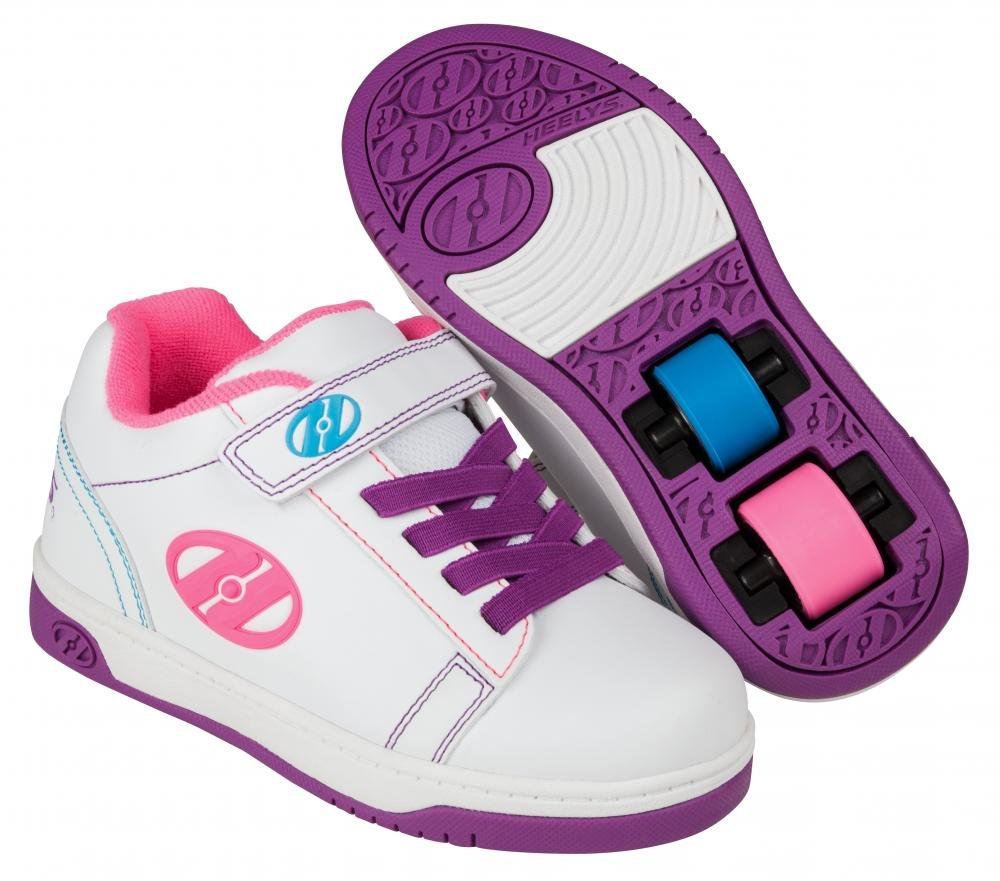 Heelys - X2 Dual Up White/Purple/Neon Multi - koloboty