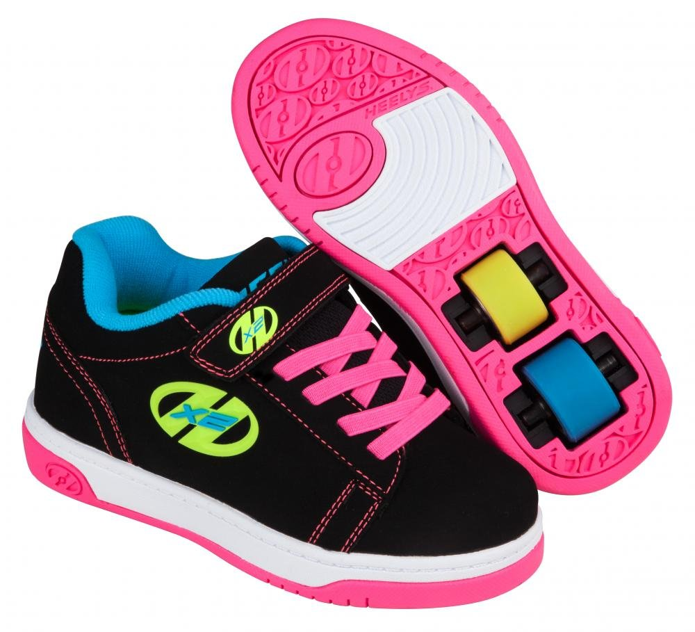 Heelys - X2 Dual Up Black/Neon Multi - koloboty