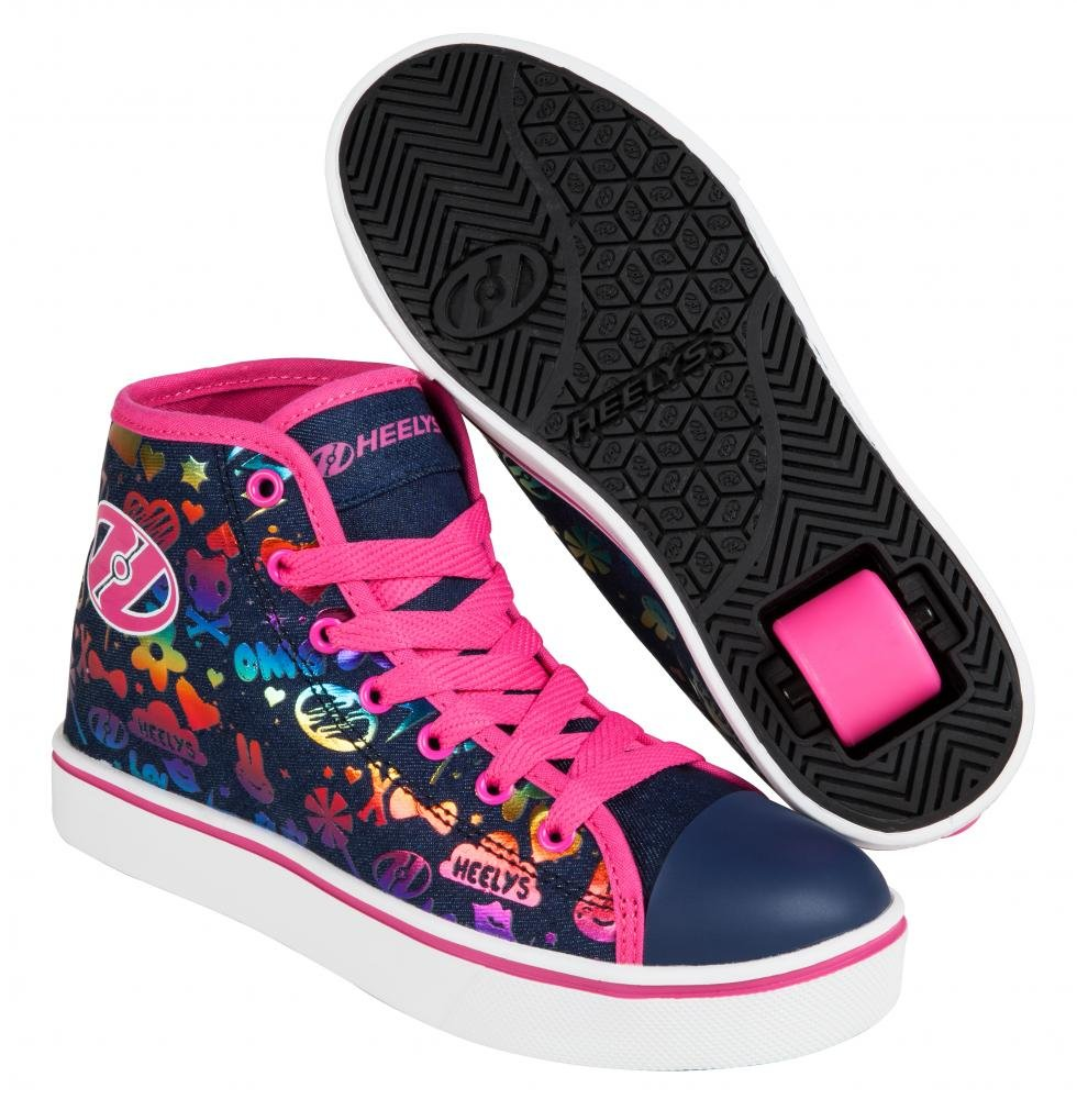 Heelys - Veloz Dark Denim/Rainbow - koloboty