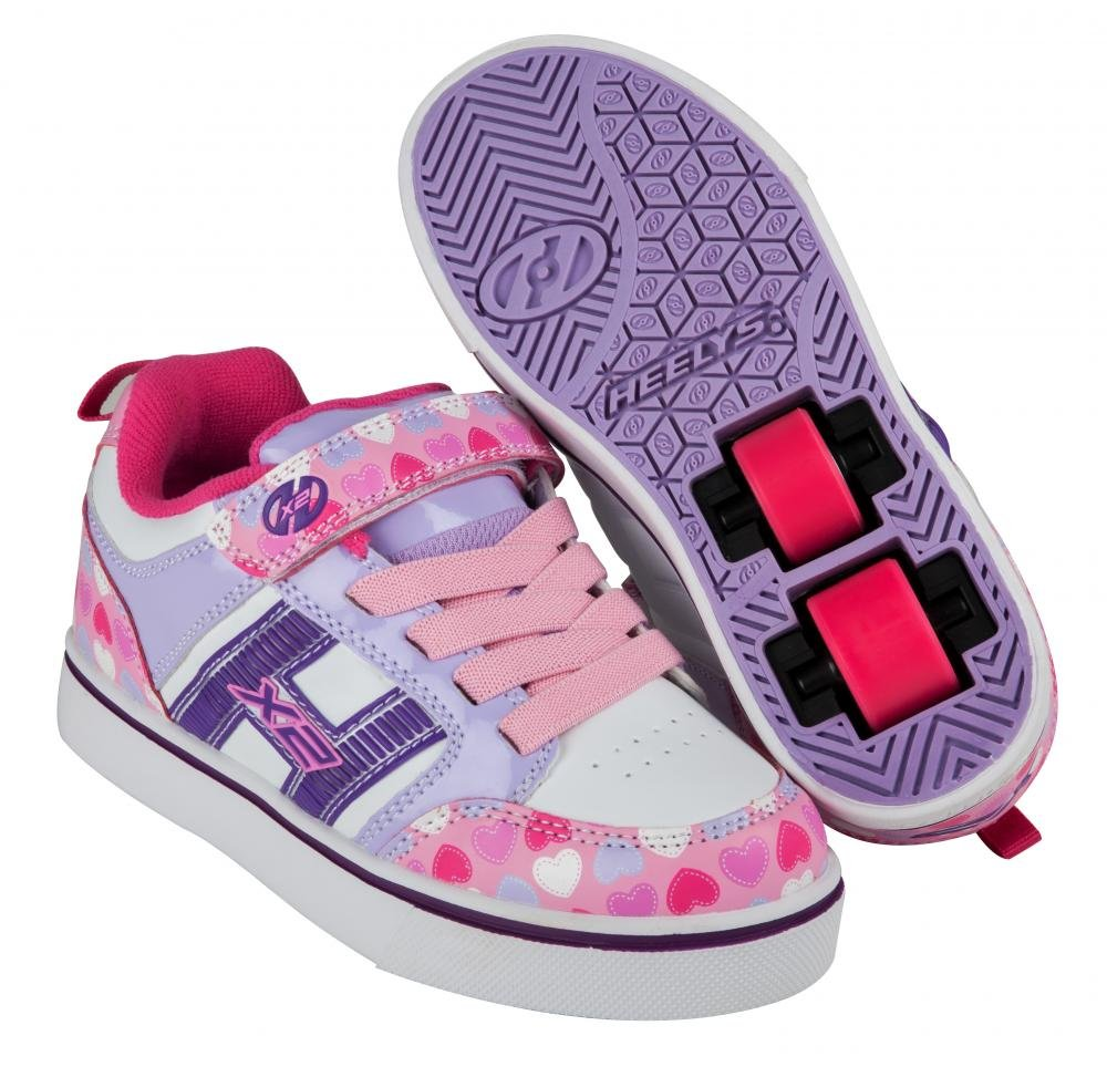 Heelys - X2 Bolt Plus Light Pink/Lilac/Hearts - koloboty