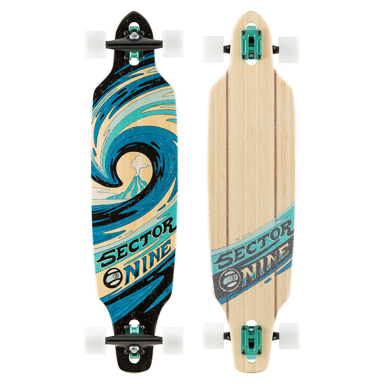 Longboard Sector 9 Slab Mini Lookout 38""