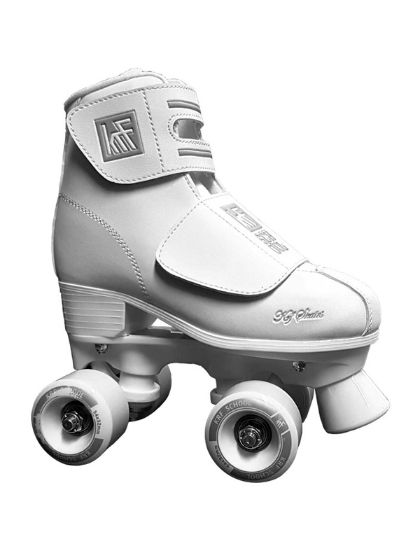 KRF Roller School PPH Junior Velcro White - trekové brusle