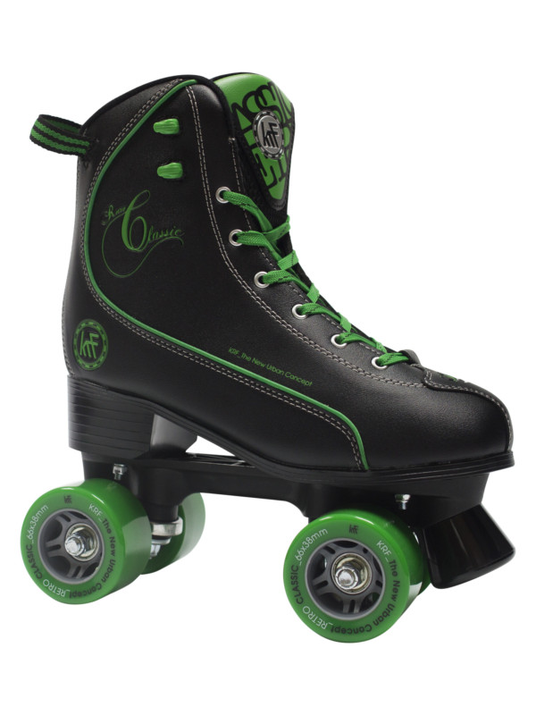 KRF Retro PPH Black-Green Roller Skate