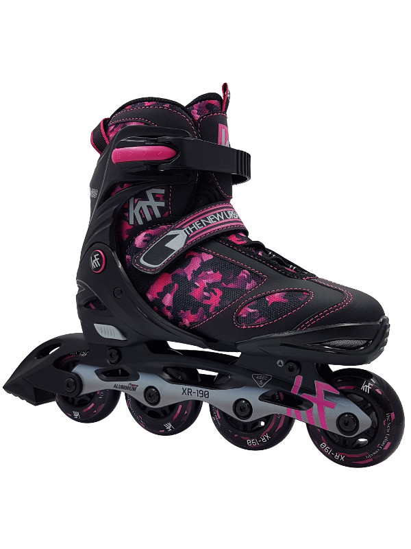 KRF Adjustable XR-190 Inline Skate Red Camo - nastavitelné in-line brusle
