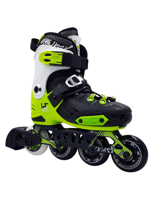 KRF FREESKATE New First Green INLINE  SKATE - nastavitelné in-line brusle