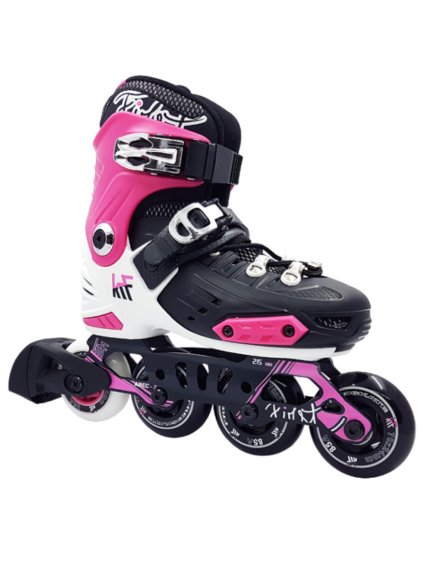 KRF FREESKATE New First Pink INLINE  SKATE - nastavitelné in-line brusle