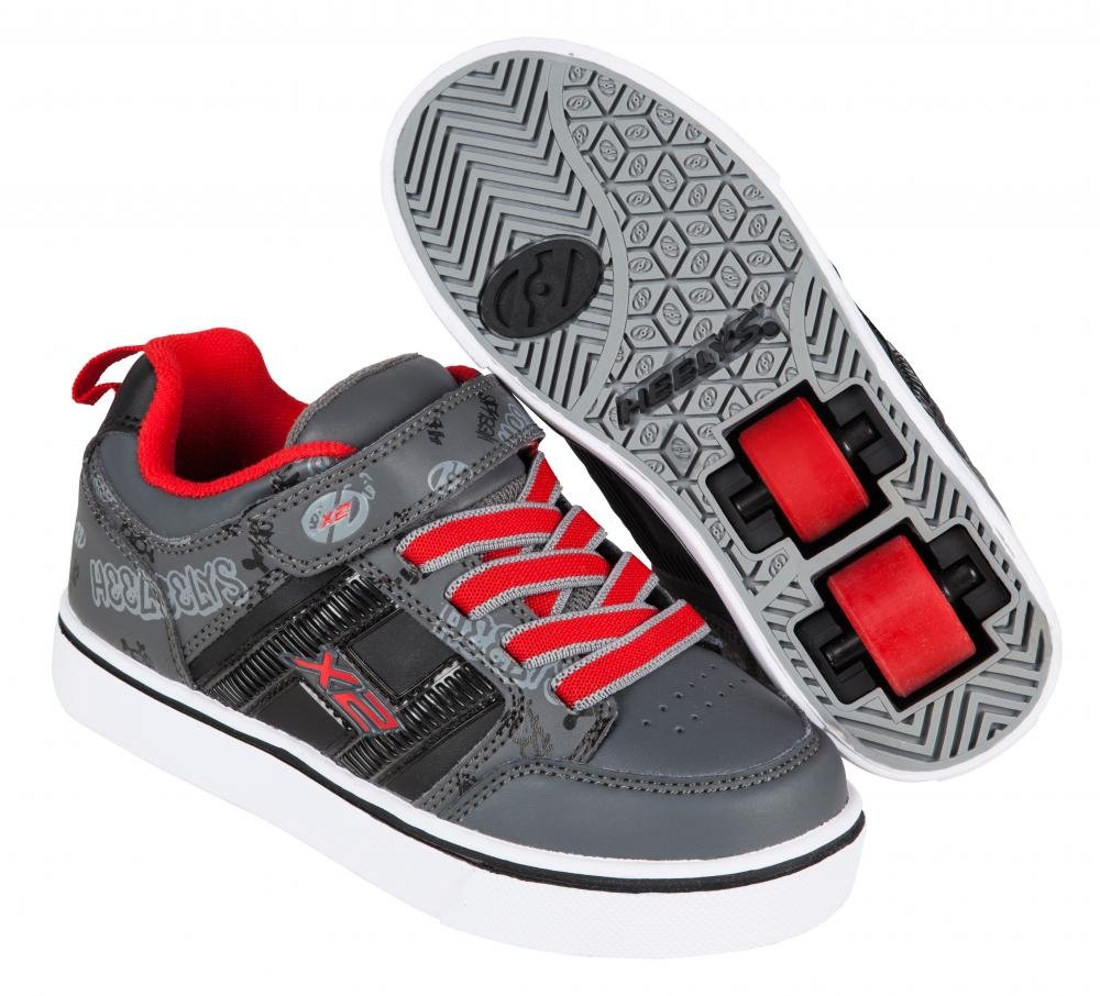 Heelys - X2 Bolt Black/Grey/Red - koloboty