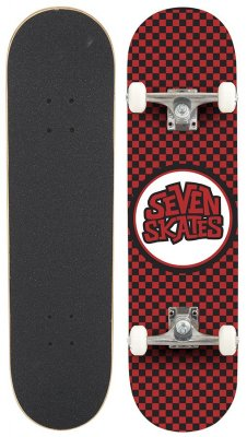 "Seven Skates - Complete Checkered Red - 7,25"" - skateboard"