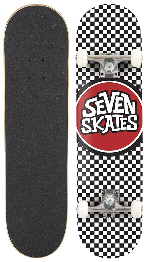 "Seven Skates - Complete Checkered - 7,8"" - skateboard"