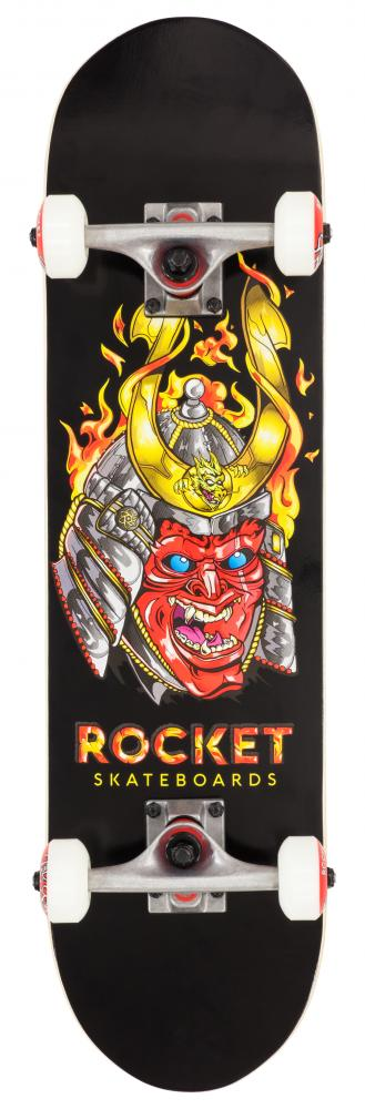 Rocket Complete Skateboard Mini Mask Samurai	Black - skateboard