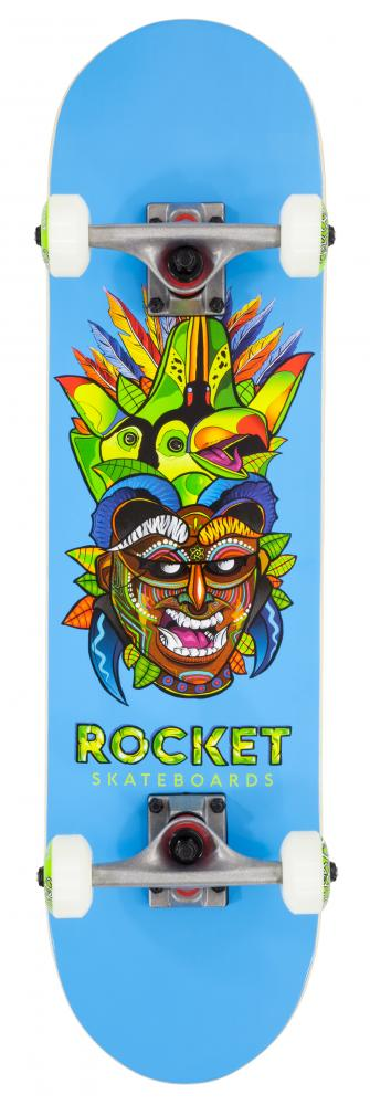 Rocket Complete Skateboard Mini Mask Tribal - skateboard