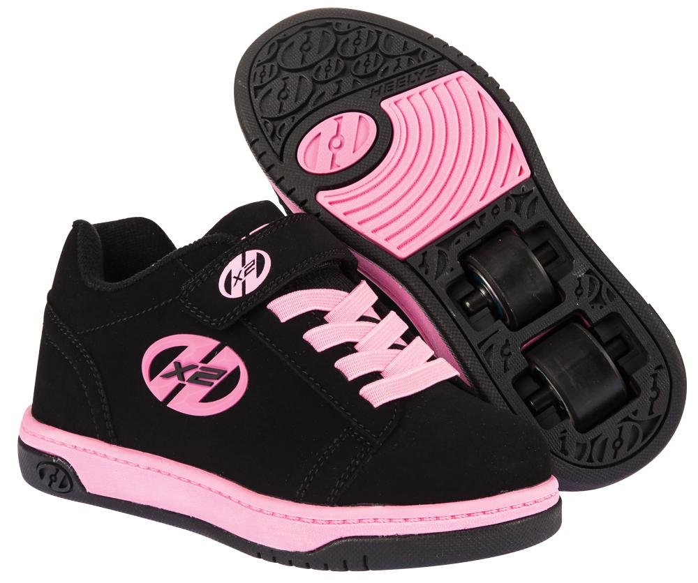 Heelys - X2 Dual Up Black/Pink - koloboty