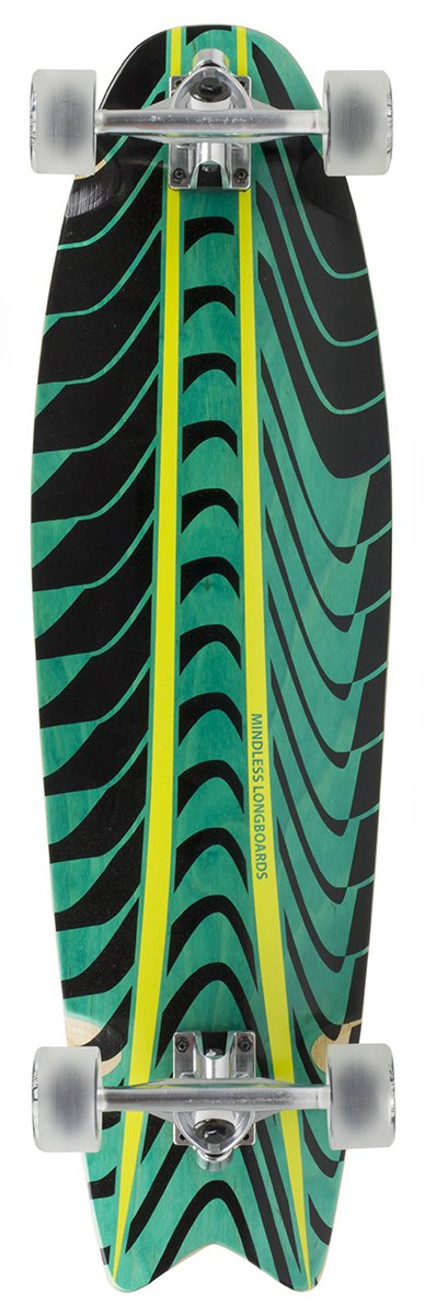 "Mindless - Rogue Swallow Tail Green 34"" longboard"