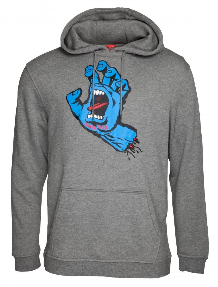 Santa Cruz - Hoody Screaming Hand Dark Heather - Pánská mikina