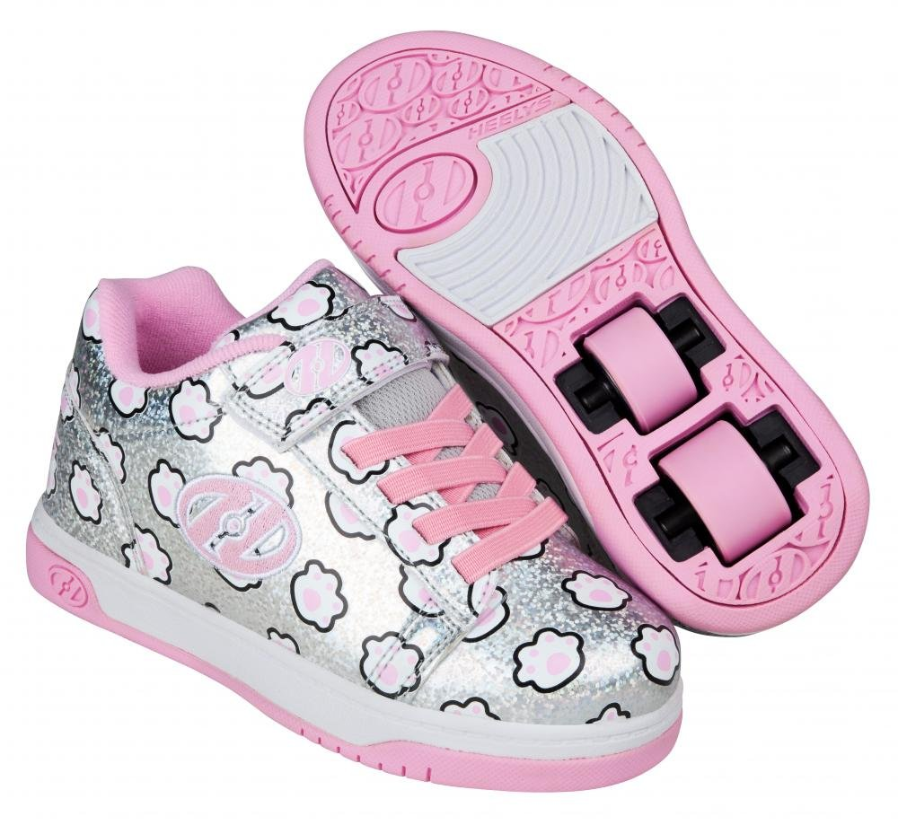 Heelys - X2 Dual Up Silver Glitter/Light Pink/Paws - koloboty