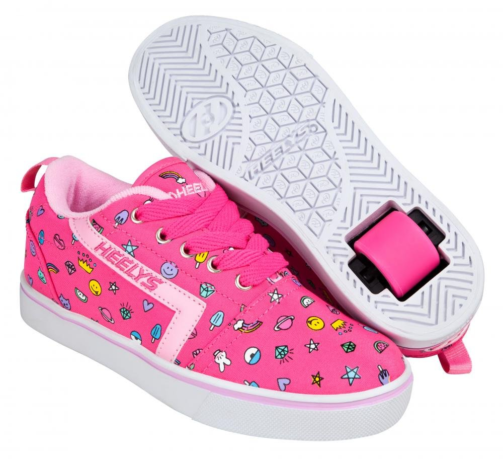 Heelys - GR8 Pro Prints Hot Pink/Light Pink/Emoji - koloboty