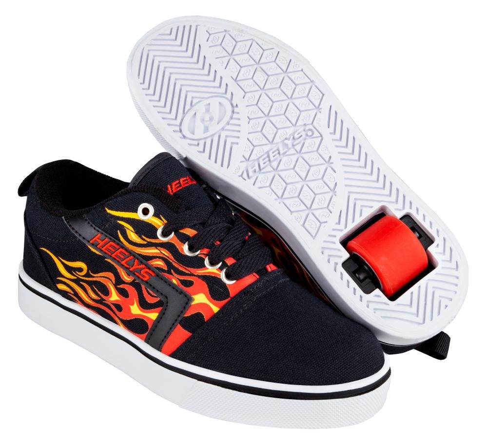 Heelys - GR8 Pro Black/Red Flames - koloboty
