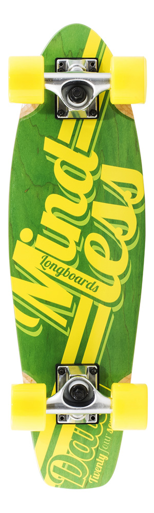 Daily Green & Yellow longboard