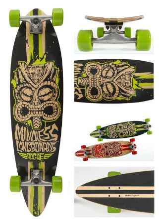 Rouge green - longboard
