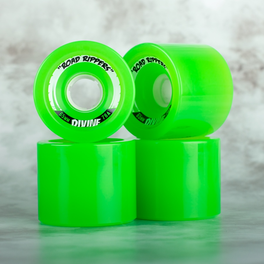 Divine City  65mm Road Rippers 78a green - skate kolečka