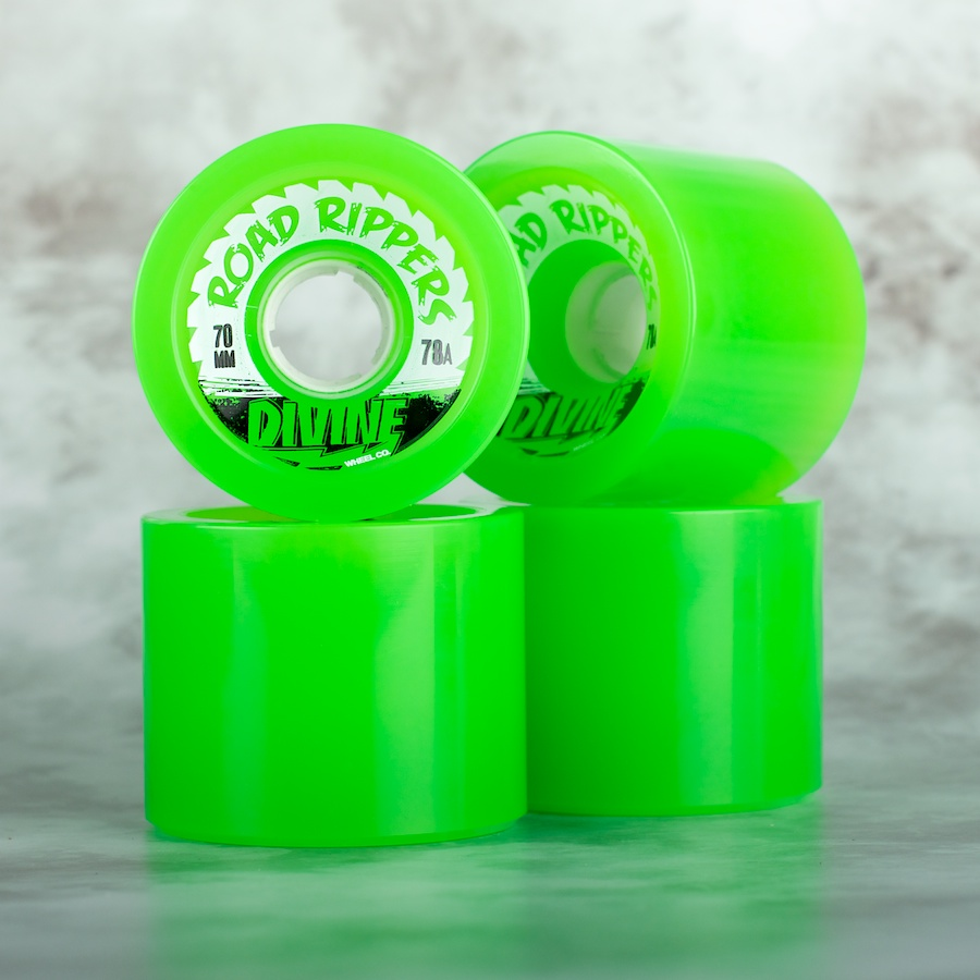 Divine City  70mm Road Rippers 80a green - skate kolečka
