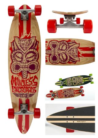 Rouge Red - longboard