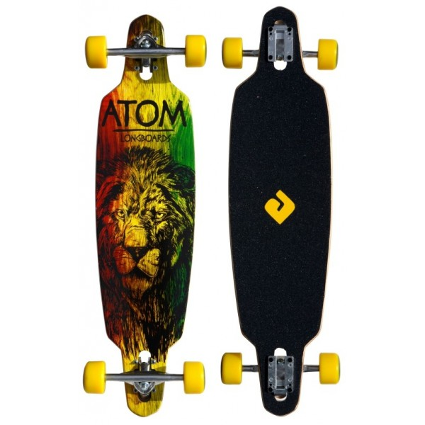 Atom 36 Drop-Through Longboard - Rasta