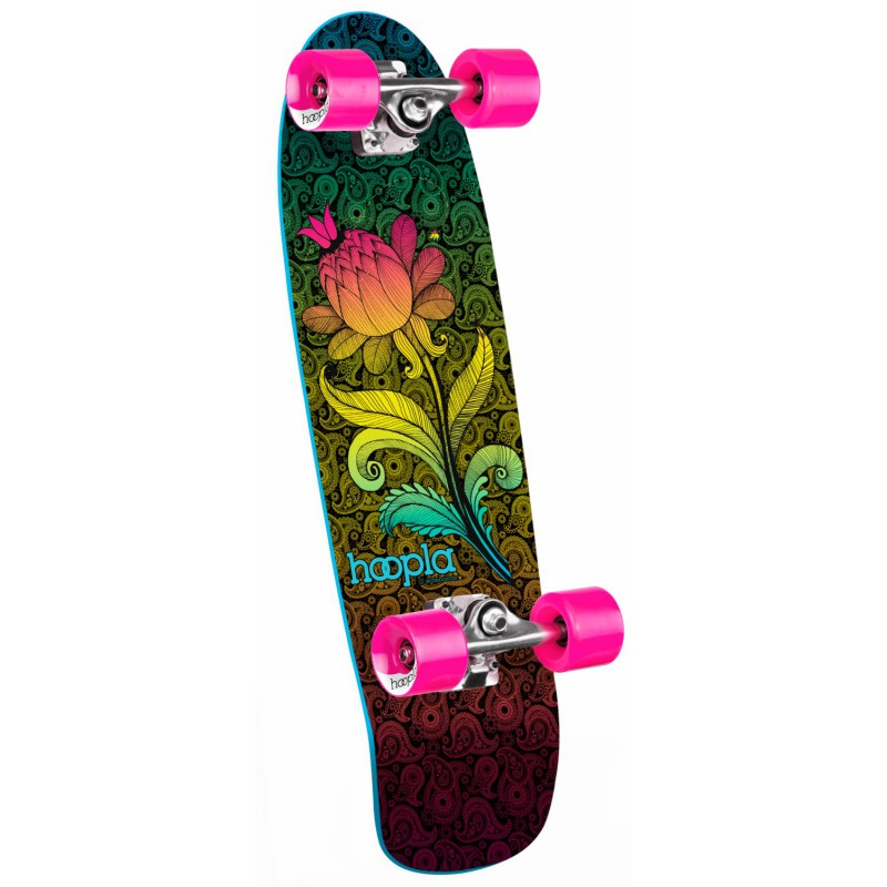 Hoopla cruiser complete Paisley Flower assembly - Black