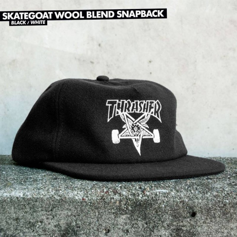 Kšiltovka Thrasher SKATEGOAT WOOL BLEND Black