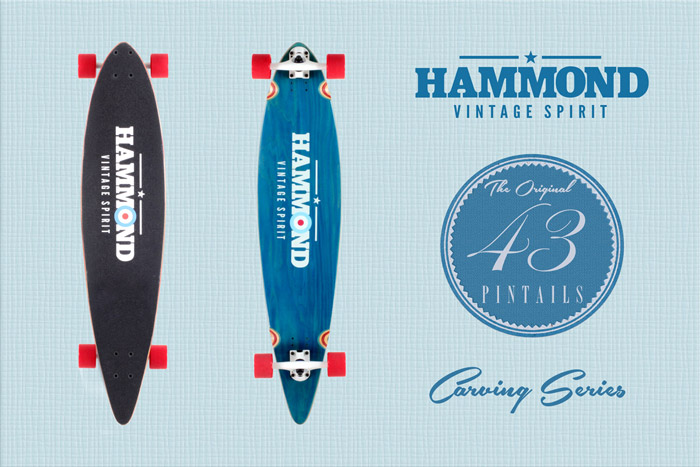 Hammond Longboards - Pintail 43 longboard